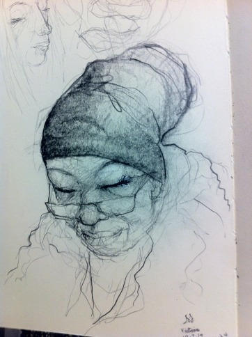 Woman on Victoria Line at Brixton