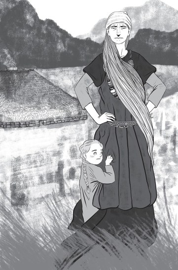 Hallegerdur+daughter